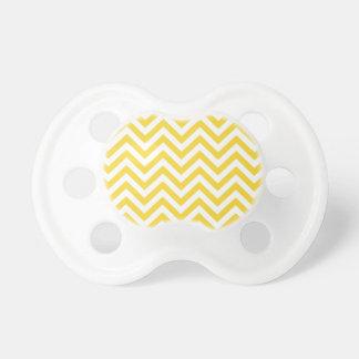 Chupeta O ziguezague amarelo e branco listra o teste