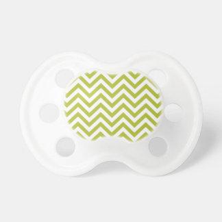 Chupeta O ziguezague verde e branco listra o teste padrão