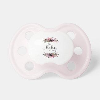 Chupeta Oh bebé floral chique da grinalda do bebê | Boho