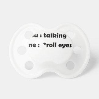 Chupeta olhos do rolo