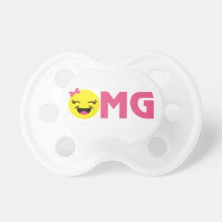 Chupeta OMG feminino Emoji