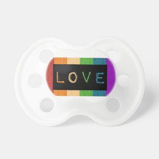 Chupeta Orgulho da etiqueta LBGT do amor e apoio do aliado