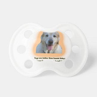 Chupeta Os cães são melhores do que seres humanos