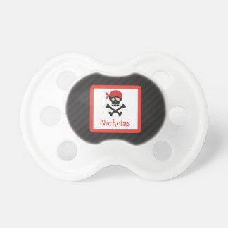Chupeta Os Crossbones do crânio do pirata personalizaram o