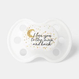 Chupeta Ouro eu te amo aos confetes da lua