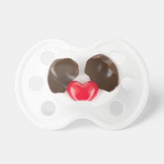 Chupeta Ovo e coração de chocolate