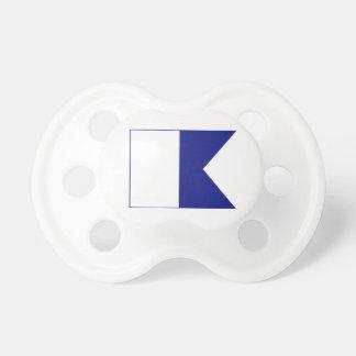 Chupeta Pacifier azul/branco alfa da bandeira do mergulho