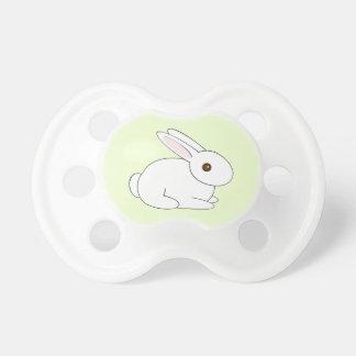 Chupeta Pacifier branco não sexista do coelho