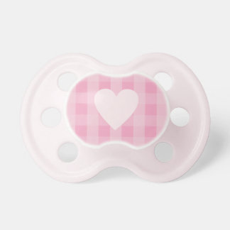 Chupeta Pacifier cor-de-rosa bonito do coração do guingão