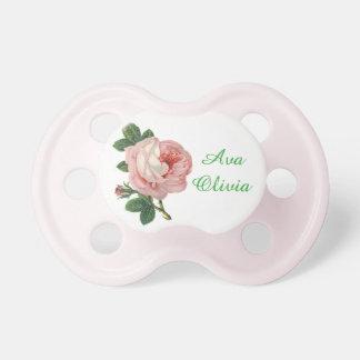 Chupeta Pacifier cor-de-rosa personalizado do vintage do