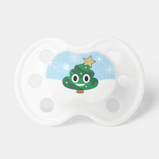 Chupeta Pacifier de Emoji do tombadilho da árvore de Natal