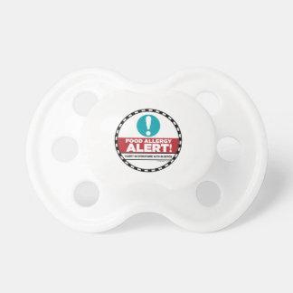 Chupeta Pacifier do alerta da alergia de comida