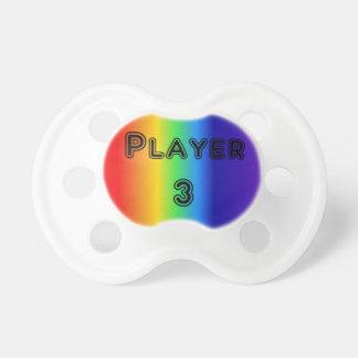 Chupeta Pacifier do arco-íris do jogador 3