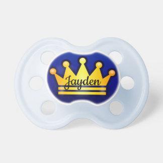 Chupeta Pacifier do bebê da coroa