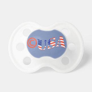 Chupeta Pacifier do bebê de Copyright EUA PARA o MENINO