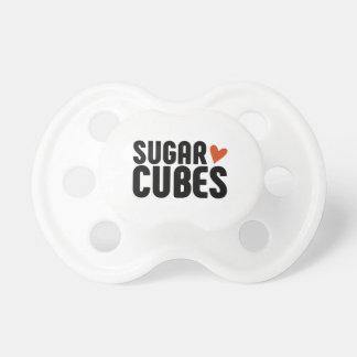 Chupeta Pacifier do bebê do cubo do açúcar