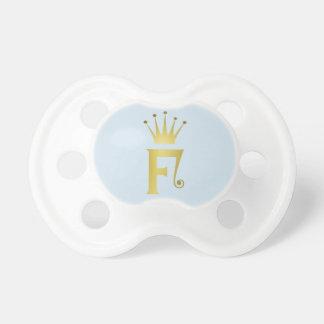 Chupeta Pacifier do bebê do monograma da letra da inicial