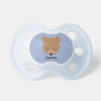 Chupeta Pacifier do bebê do urso com nome