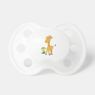 Chupeta pacifier do girafa do bebê