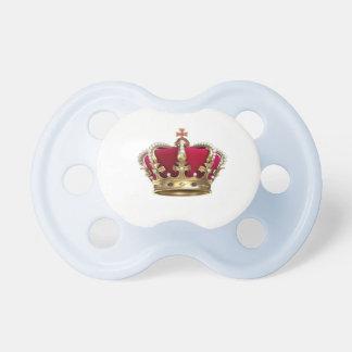 Chupeta pacifier do rei do bebê