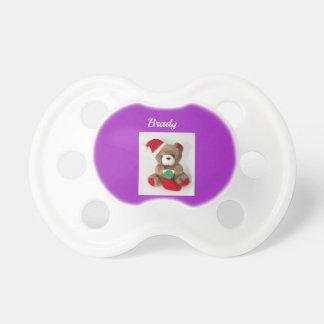 Chupeta Pacifier do urso do Natal do ursinho de Winnie the