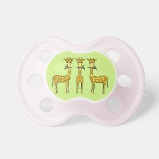 Chupeta Pacifier dos girafas