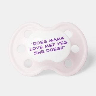 Chupeta Pacifier engraçado das citações para o bebê