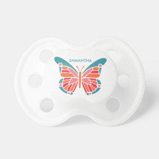 Chupeta Pacifier feito sob encomenda do bebê da borboleta