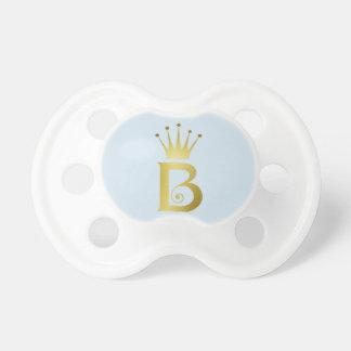 Chupeta Pacifier inicial do bebê do monograma da letra do