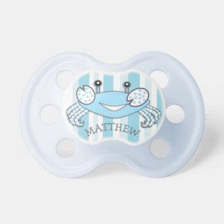 Chupeta Pacifier náutico do bebé do caranguejo listrado