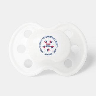Chupeta Pacifier patriótico dos EUA - EUA 250th - B-dia de