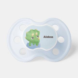 Chupeta Pacifier pequeno bonito do bebê do dinossauro do