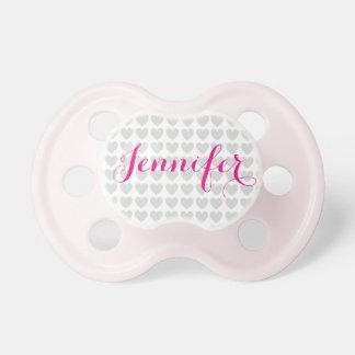 Chupeta Pacifier personalizado do bebê com nome do bebê