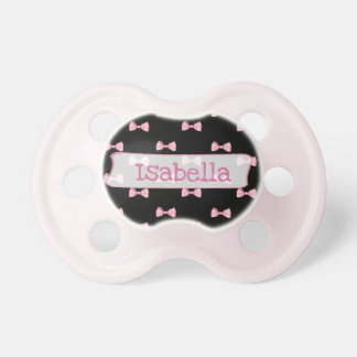 Chupeta Pacifier personalizado do bebé do arco do rosa e