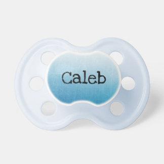 Chupeta Pacifier personalizado do bebê do menino azul