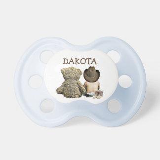 Chupeta Pacifier personalizado do bebê do vaqueiro e do