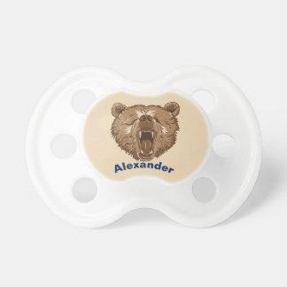 Chupeta Pacifier personalizado sonolento do bebê do urso