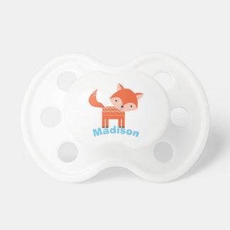 Chupeta Pacifier personalizado vermelho do bebê do Fox da