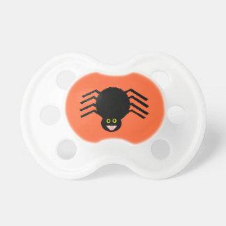 Chupeta Pacifier preto da aranha do Dia das Bruxas