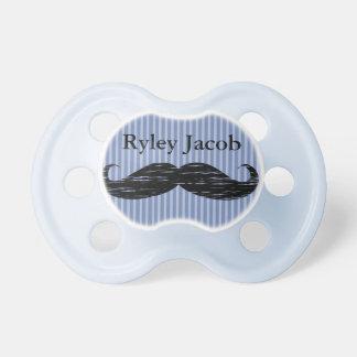 Chupeta Pacifier preto personalizado do bebé do bigode