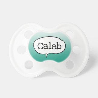 Chupeta Pacifier verde personalizado do bebê do menino