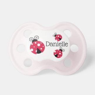 Chupeta Pacifier vermelho personalizado do bebé do
