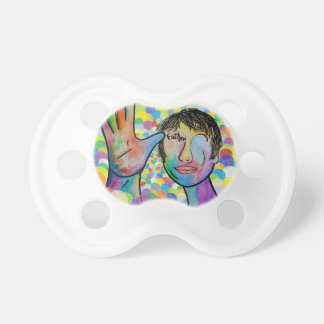 Chupeta PAI do ASL no fundo brilhante da bolha