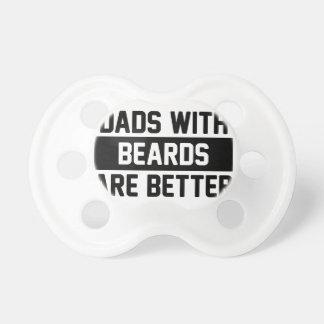 Chupeta Pais com barbas