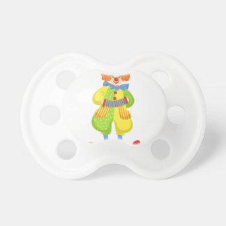 Chupeta Palhaço amigável colorido que joga o acordeão na