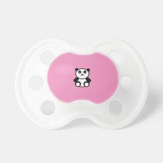 Chupeta Panda bonito no rosa Pastel