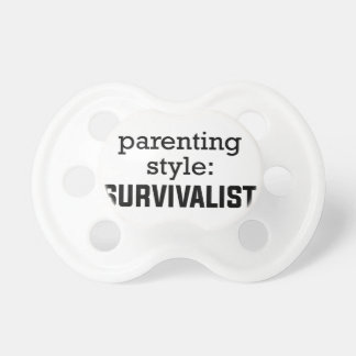 Chupeta Parentalidade do Survivalist