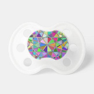 Chupeta Pedra de gema tirada Kaleidescope colorida