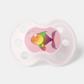 Chupeta Peixe dourado alegre bonito no mar, cor-de-rosa