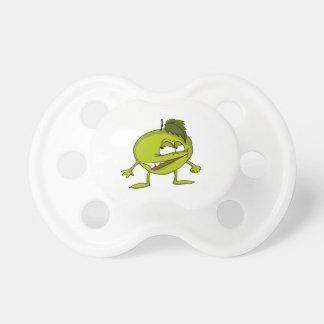 Chupeta Personagem de desenho animado verde da maçã com um